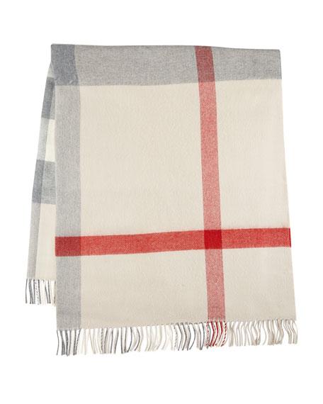 Burberry Lightweight Wool Check Blanket