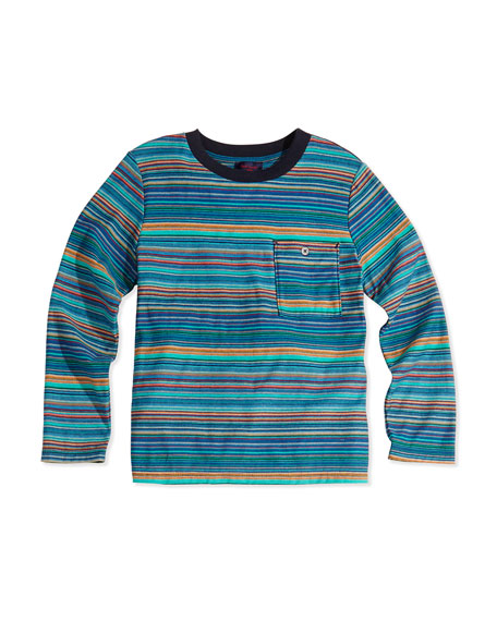 Long-Sleeve Striped Tee, Boys' 2T-6T