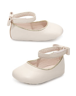 Chloe Baby Leather Ballet Flats, Pink Ice