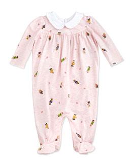 Ralph Lauren Childrenswear Bear-Print Coverall, Delicate Pink, 3-9 Months