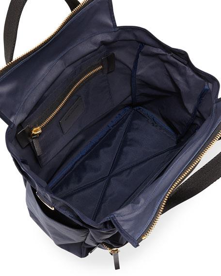 Biker Leather-Trim Nylon Babybag