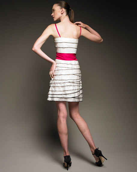 Tiered Piped Dress