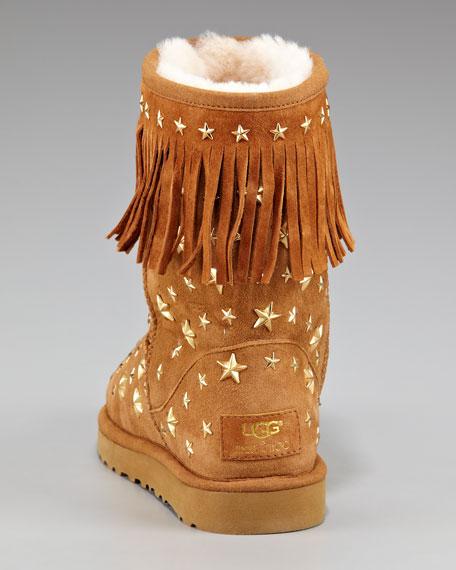 Starlit Fringed Boot
