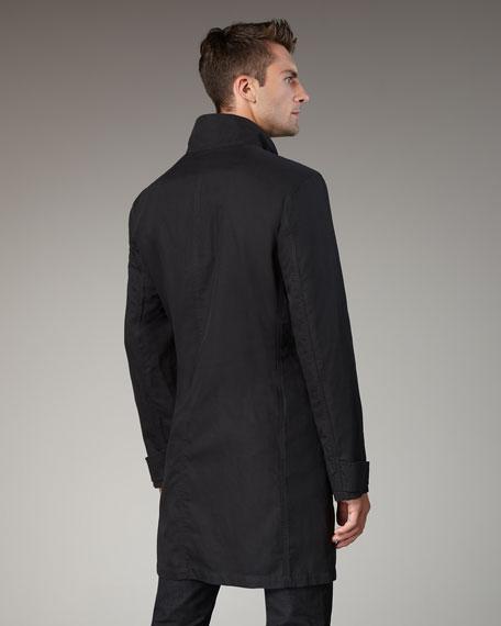 Black Dropped Neck Jacket