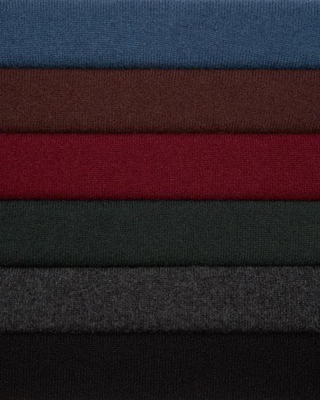 Cashmere Faux-Wrap Sweater