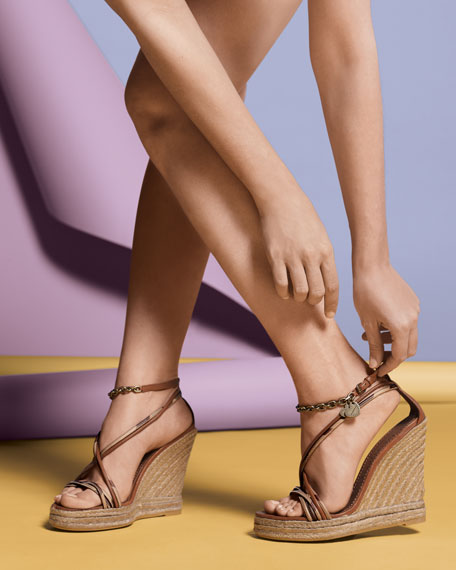 Smoked Check Hearts Espadrille