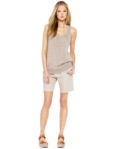 Natural Linen Trouser Short