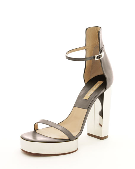 Platform Sandal, Gray