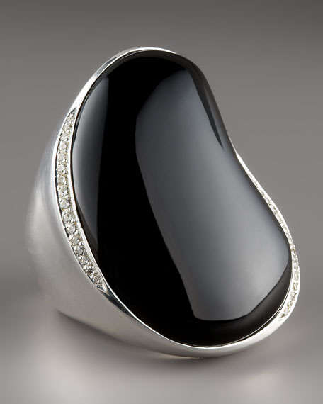 Scultura Onyx Ring with Diamonds