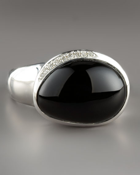 Pebble Ring with Diamonds