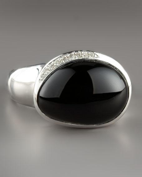 Pebble Ring with Diamonds