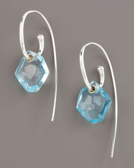 Baroque Blue Topaz Earrings