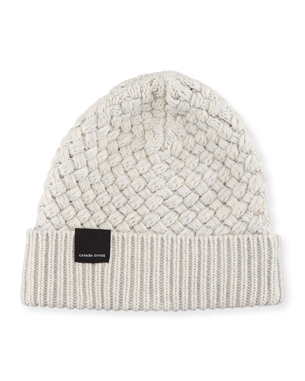 8f29c574f9e Canada Goose Basket-Stitch Wool Toque Hat | Neiman Marcus
