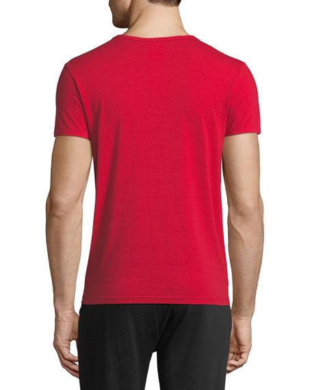 Versace Jersey V-Neck T-Shirt