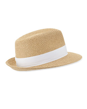a79a6a8447d Eric Javits Squishee Classic Woven Fedora Hat