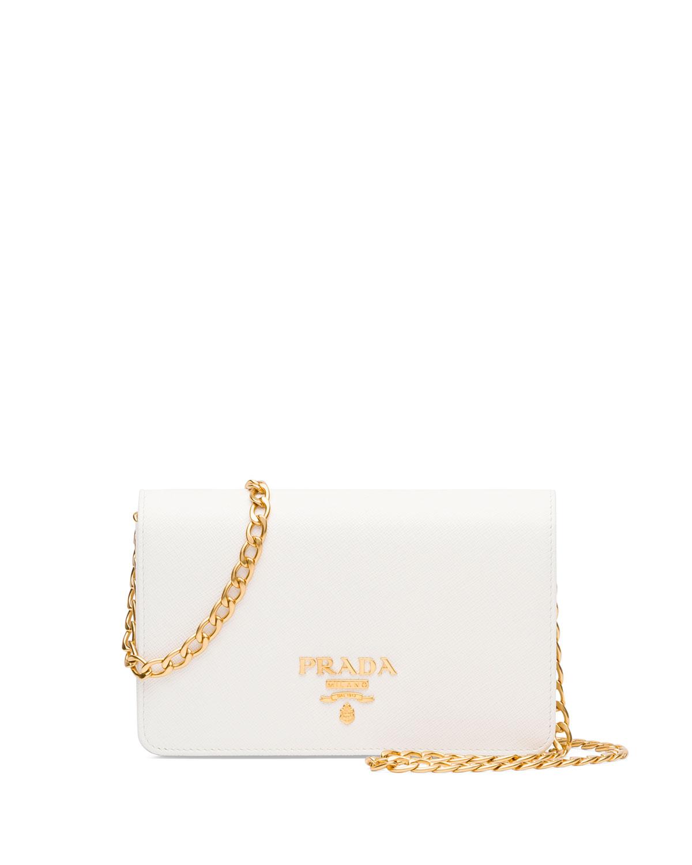 281e332d0ff2 Prada Saffiano Lux Crossbody Bag   Neiman Marcus
