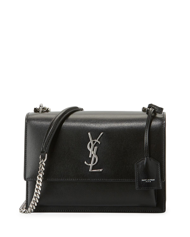d00425a776b Saint Laurent Sunset Medium Monogram YSL Crossbody Bag | Neiman Marcus