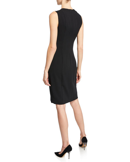 Image 2 of 2: Akris Sleeveless V-Neck Dress