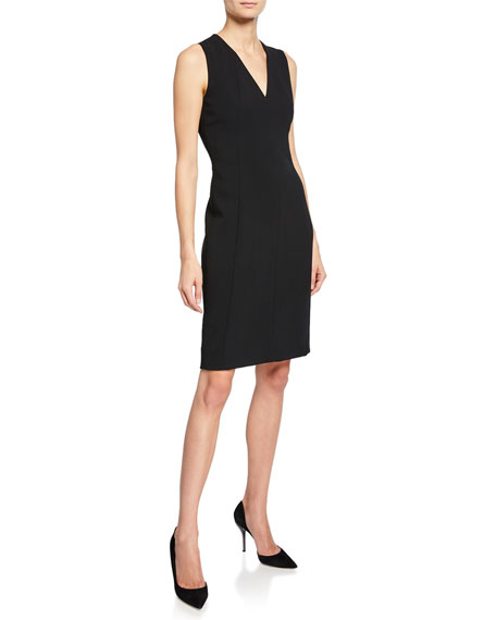 Image 1 of 2: Akris Sleeveless V-Neck Dress