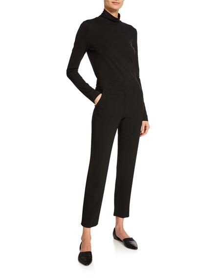 Emma Marocain Cropped Pants, Caviar