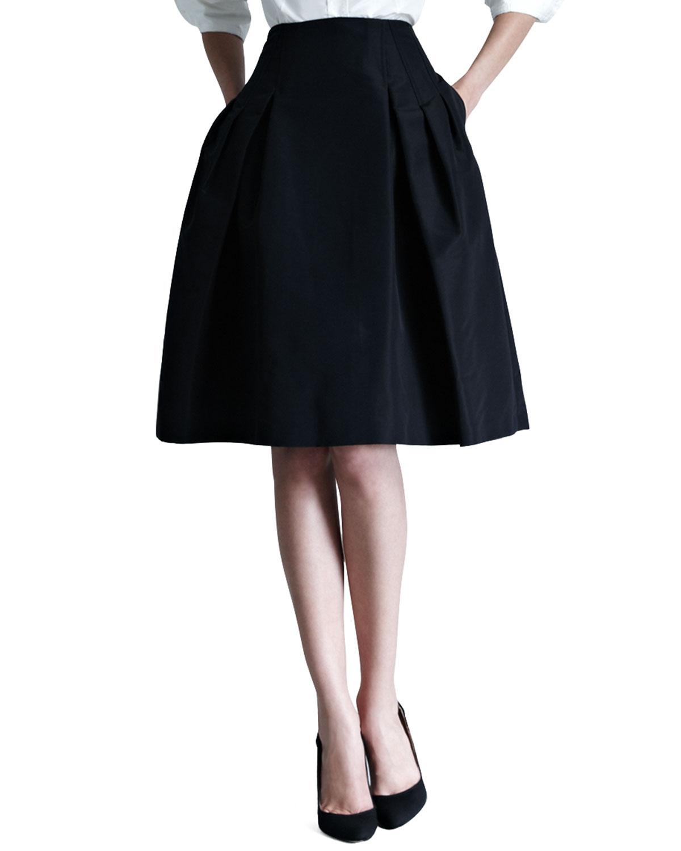 93a7039b8 Carolina Herrera Silk Faille Party Skirt | Neiman Marcus