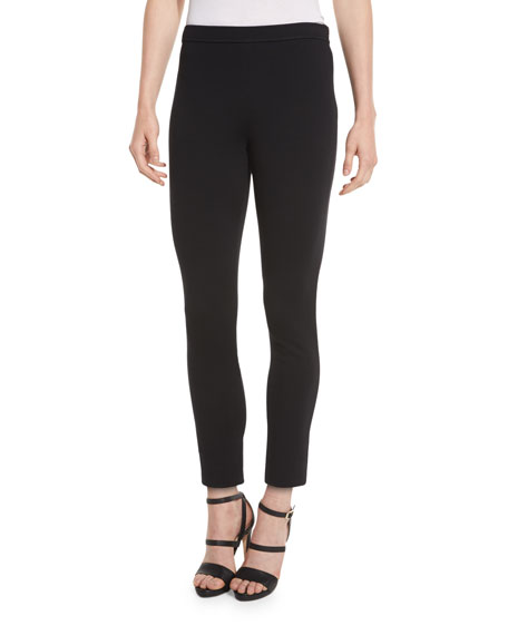 St. John Collection Alexa Knit Slim-Leg Ankle Pants,