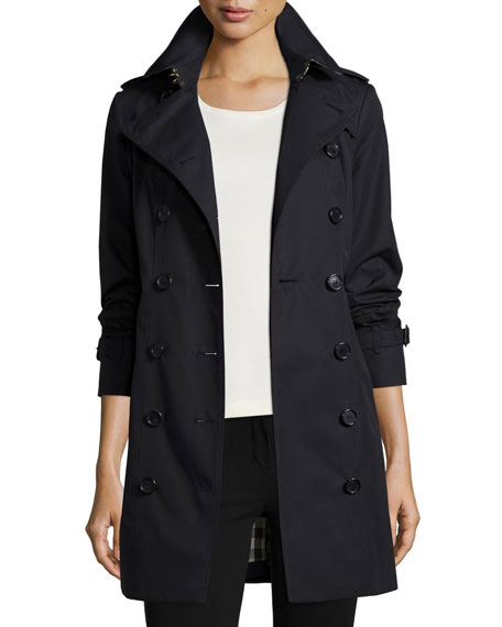 Sandringham Double-Breasted Slim Fit Trenchcoat, Navy