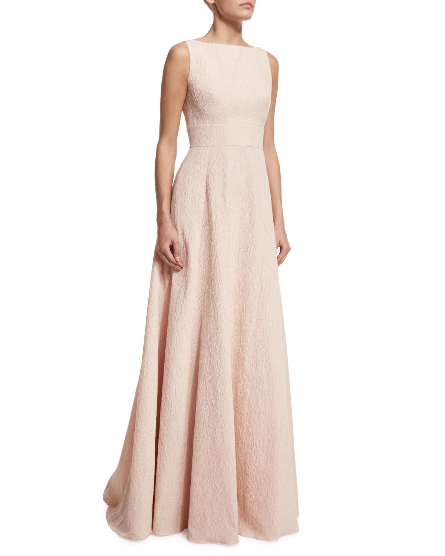Lela Rose Sleeveless V-Back Gown | Neiman Marcus