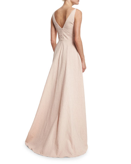 Sleeveless V-Back Gown