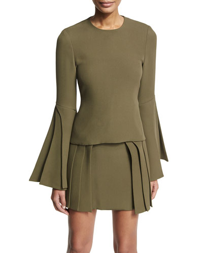 Layered-Sleeve Georgette Blouse