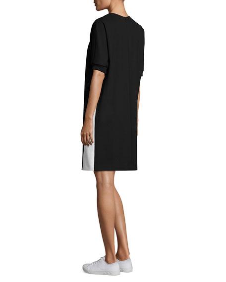 Half-Sleeve Sweatshirt Dress