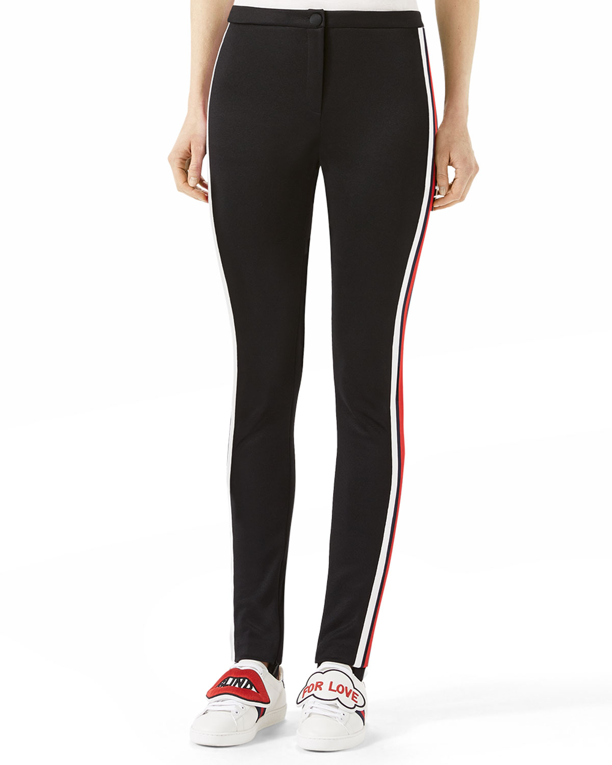 50b3d20c319 Gucci Jersey Stirrup Leggings with Sylvie Web