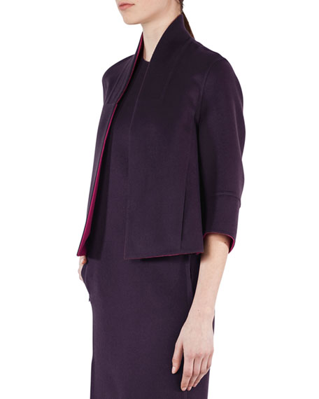 Akris Kahlo Reversible Cashmere Short Jacket