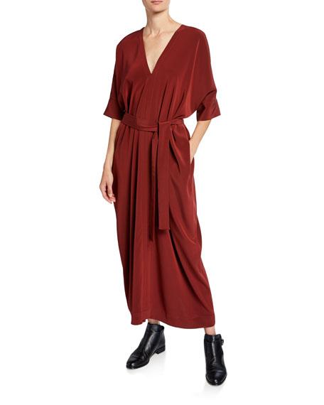 Co Wide-Sleeve Caftan Dress