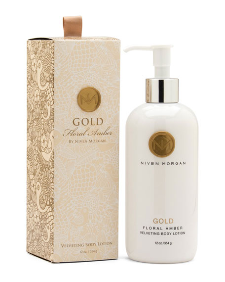 Niven Morgan Gold Body Lotion, 12 oz.