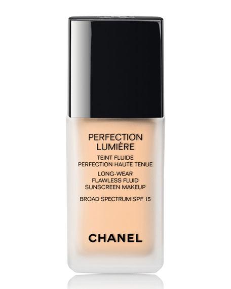 CHANEL <b>PERFECTION LUMI&#200;RE </b><br>Long Wear Flawless Fluid Makeup SPF 15
