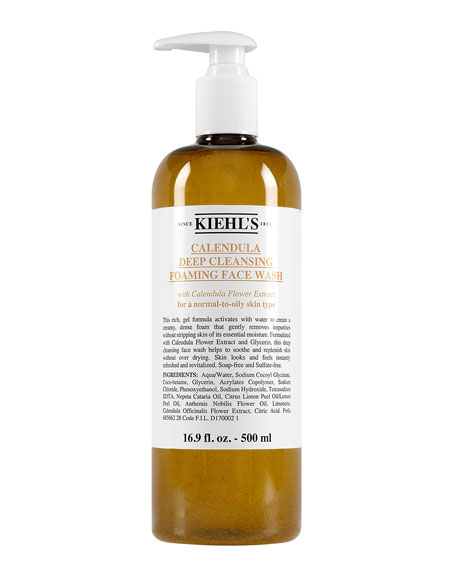 Image 1 of 5: Kiehl's Since 1851 16.9 oz. Calendula Deep Cleansing Foaming Face Wash