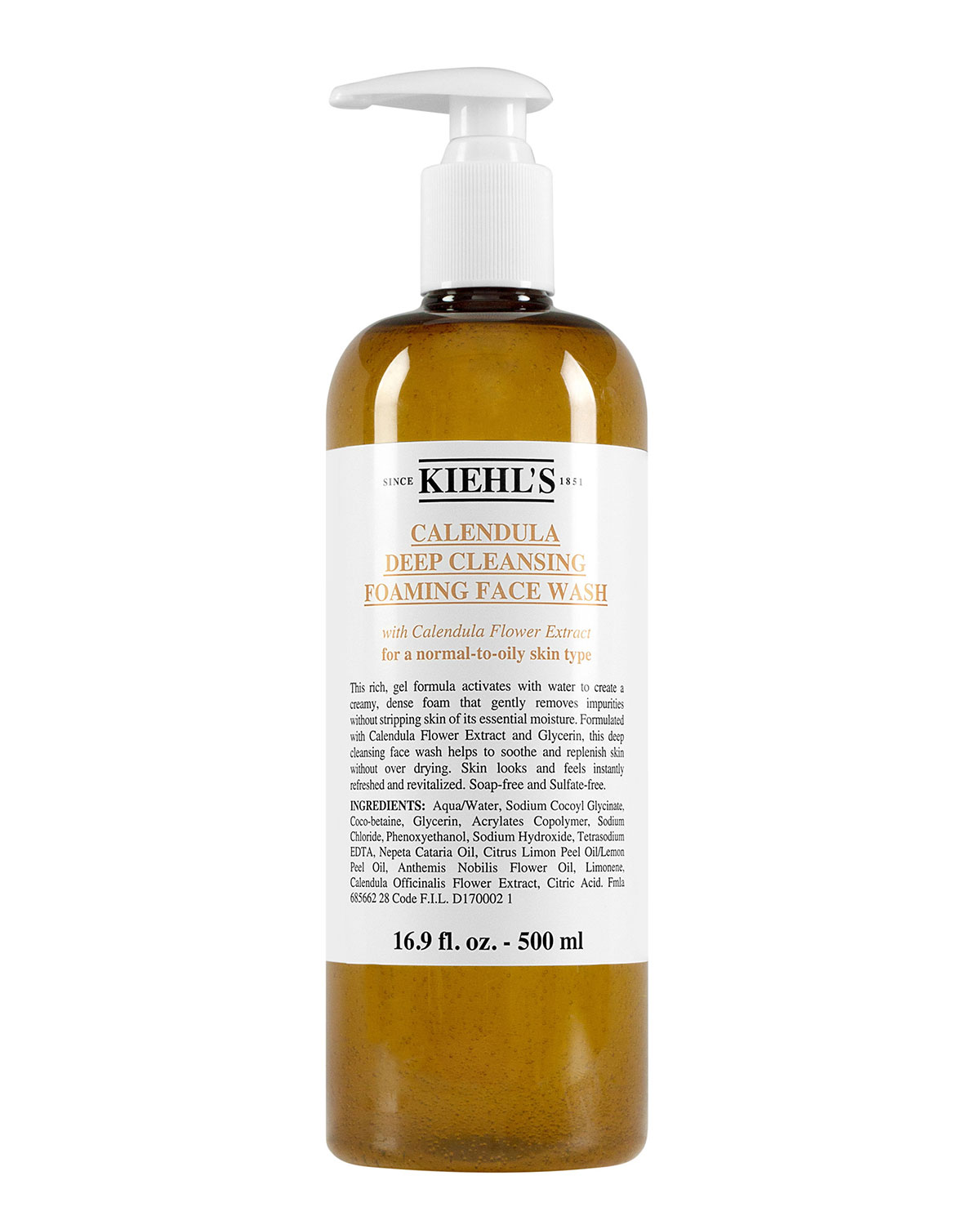 Kiehl's Since 1851 16.9 oz. Calendula Deep Cleansing Foaming Face Wash