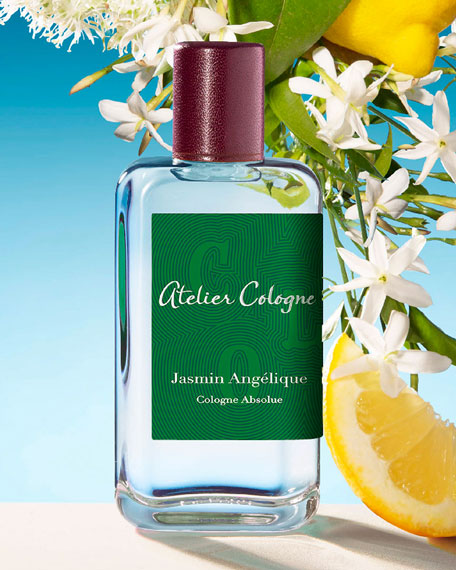 Atelier Cologne Jasmine Angelique Cologne Absolue, 200 mL with Personalized Travel Spray, 30 mL