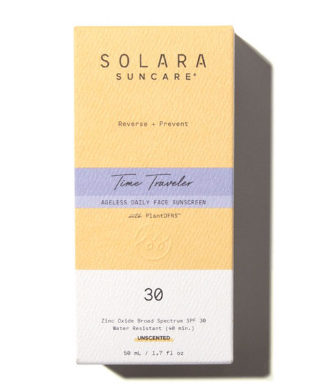 Image 2 of 2: Solara Suncare Time Traveler Ageless Daily Face Sunscreen, 1.7 oz. / 50 mL