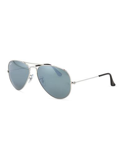 Original Aviator Sunglasses  Silver Mirror