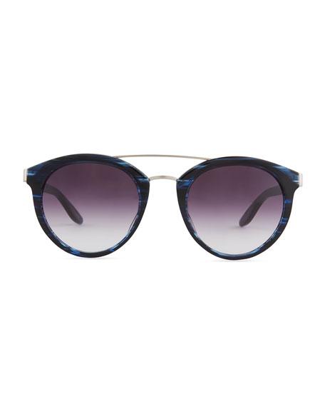 Dalziel Round Sunglasses with Metal Bar