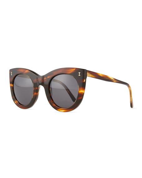 Illesteva Boca Round Plastic Sunglasses