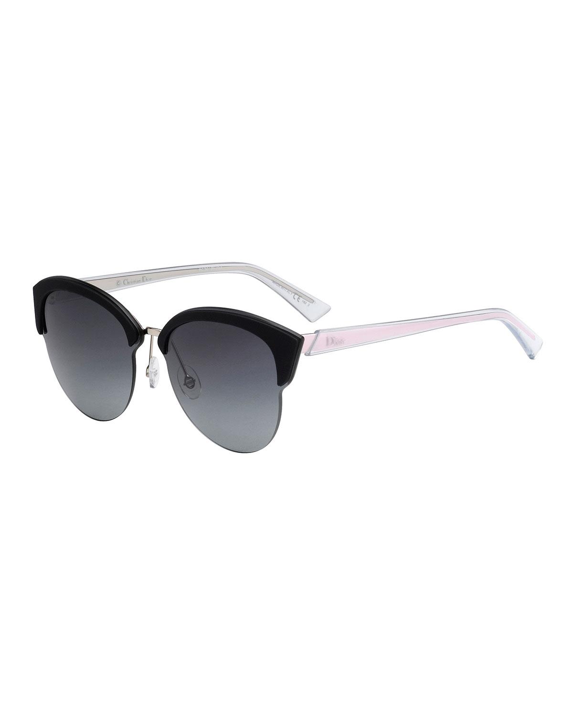 20eb2bb5812a4 Dior Run Capped Cat-Eye Sunglasses
