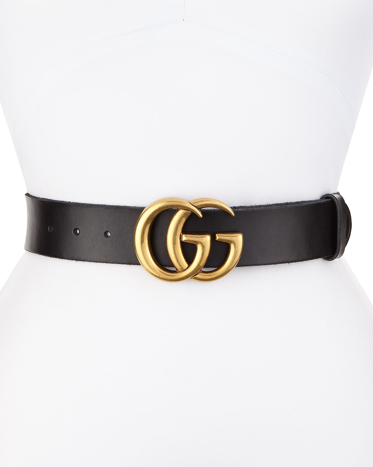 07aa75b3b3f9eb Gucci Leather Logo-Buckle Belt | Neiman Marcus