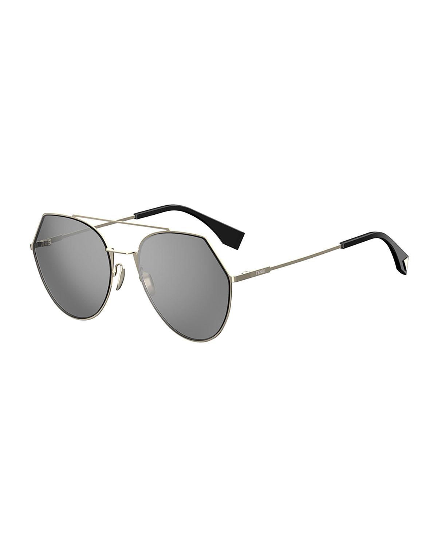 18179ee15a7 Fendi Eyeline Mitered Aviator Sunglasses
