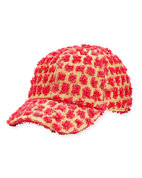 Tom Frayed Canvas Baseball Cap, Pink