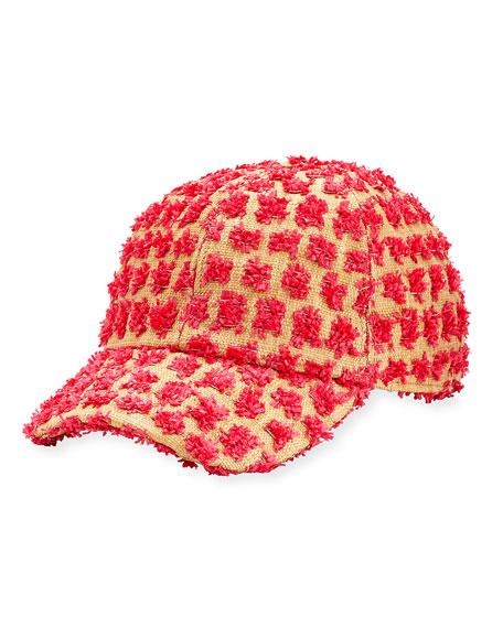 Federica Moretti Tom Frayed Canvas Baseball Cap, Pink