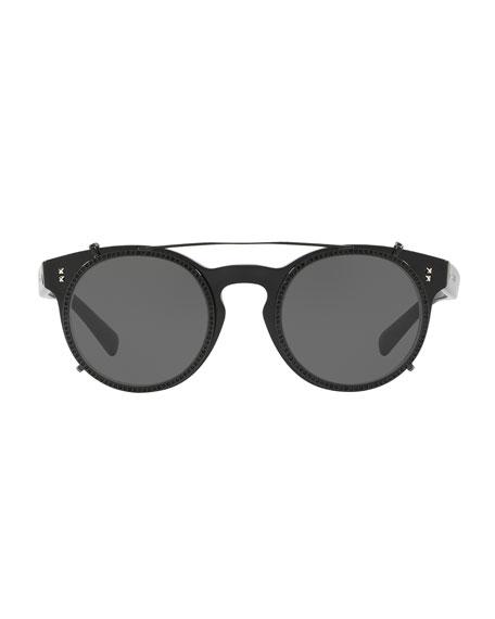 Rockstud Rivet Round Sunglasses