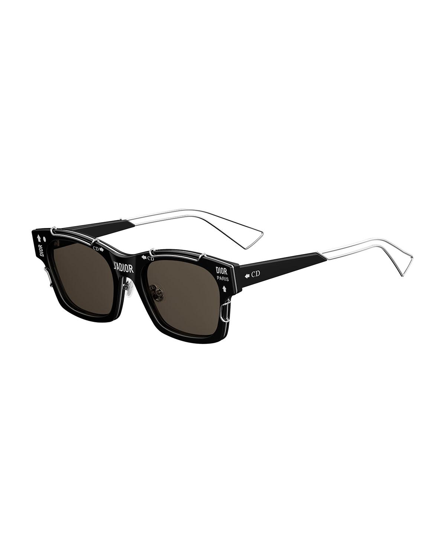 48435531598f Dior J  Adior Square Graphic Sunglasses